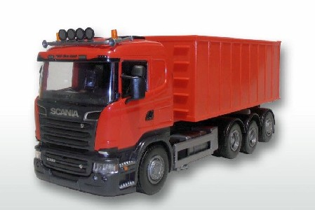 Scania R mit Abrollmulde gross   1:25