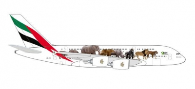 A380 Emirates, wildlife; 1:500