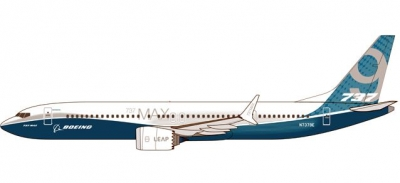 B737 MAX 9 Boeing House Colors; 1:200