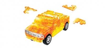 3D Hummer H2 transp. ``orange``, 1:32