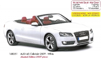 Audi A5 Cabriolet weiss 2009 HQ  1:18