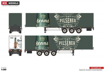 - Box Trailer (3 axle); 1:50