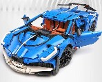 Sportwagen blau  1:8