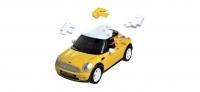 3D Mini Cooper std. ``gelb``, 1:32