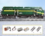 Diesel-Lokomotive aus Bausteinen