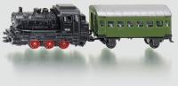 Dampflok mit Personenwagen