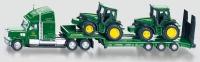 Tieflader mit John Deere Traktoren